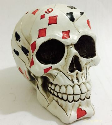 Gothic CARDS DECORATED Skull Head Skeleton Nemesis SK224